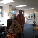 Wheel chair training with Manchester Cares